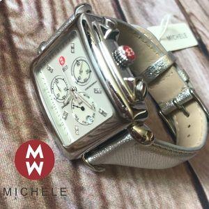 Michele Deco XL Chrono Diamond Watch